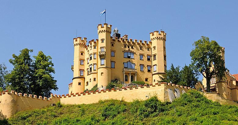 Blick auf Schloss Hohenschwangau