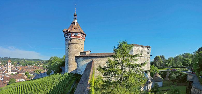 Blick auf die Burg Munot