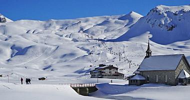 Blick ins Skigebiet Melchsee-Frutt