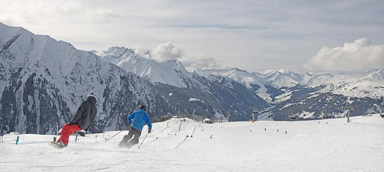 Skifahren auf dem Ahorn