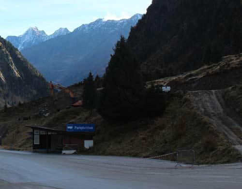 Baustelle Talstation Stubaier Gletscher