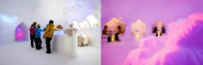 Eisbar in der White Lounge