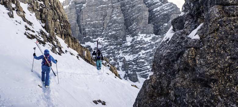 Freerider auf dem Weg zum Gipfel