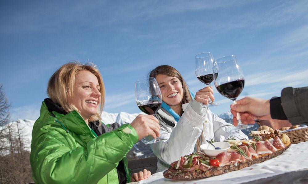Gaumenfreuden an der Skipiste in Ihrem Italien-Winterurlaub