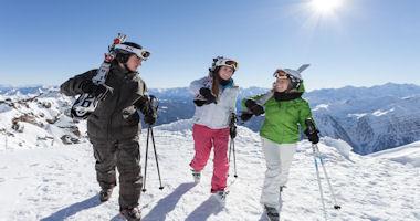 Skifahrer in Pejo 3000