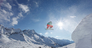 Snowboarder im Val di Sole