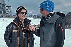 Chris im Gespräch mit Alex von den Stubaier Bergbahnen