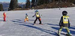 Kids beim Skifahren