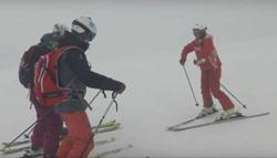 Das x-challenge-Team beim Training mit Skilehrerin Anuschka