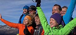 Das freudige Team am Gipfel