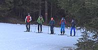 Das X-Challenge-Team beim Skitourengehen