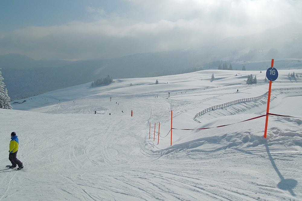 Piste 16 im Skigebiet Steinplatte