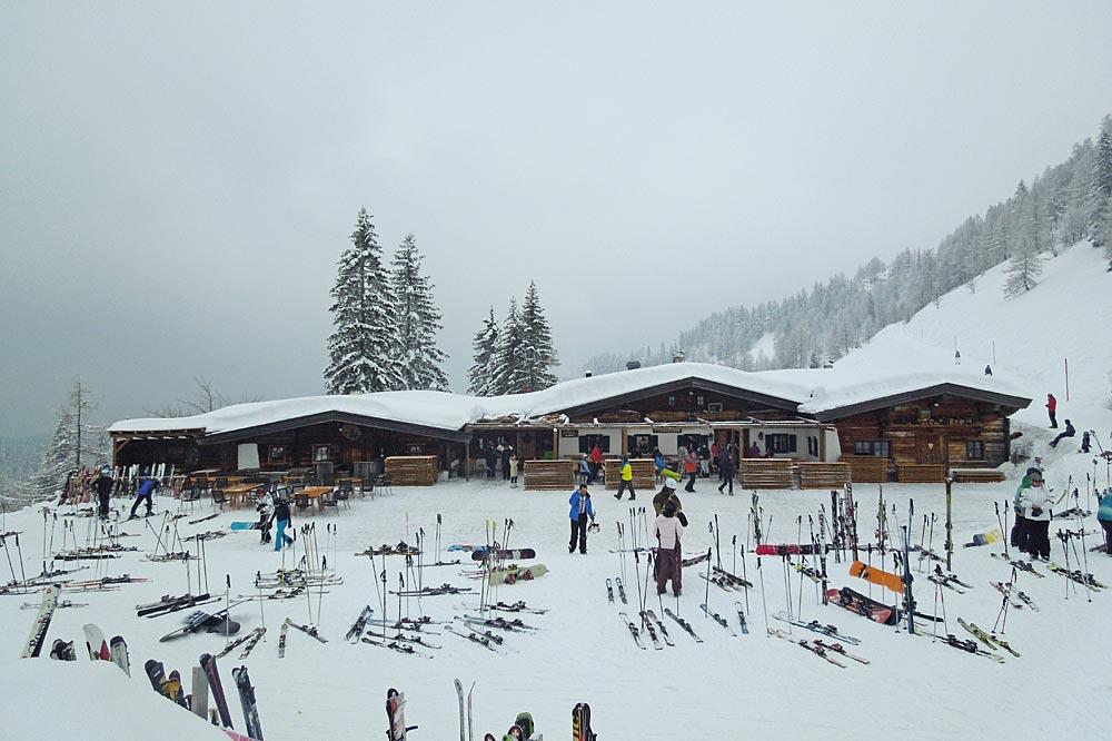 Stallenalm im Skigebiet Winklmoos-Steinplatte