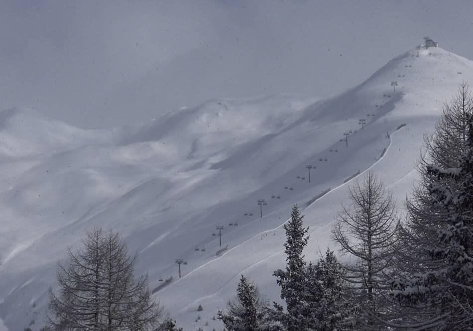 Wundervoller Ausblick auf das Skigebiet