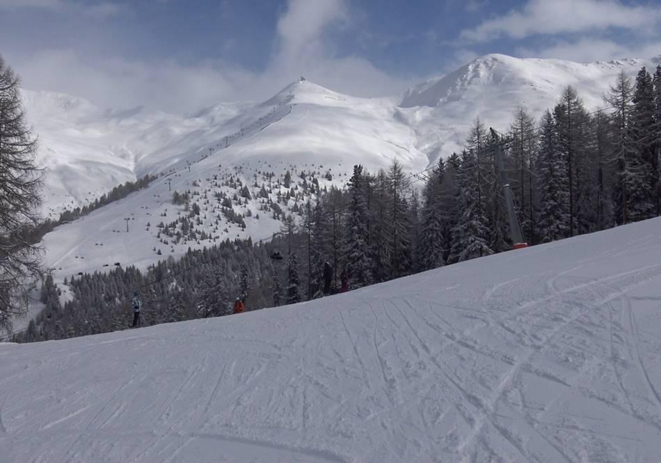 Breite Pisten im Skigebiet Nauders