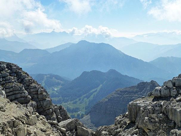 Panoramablick in die Berge