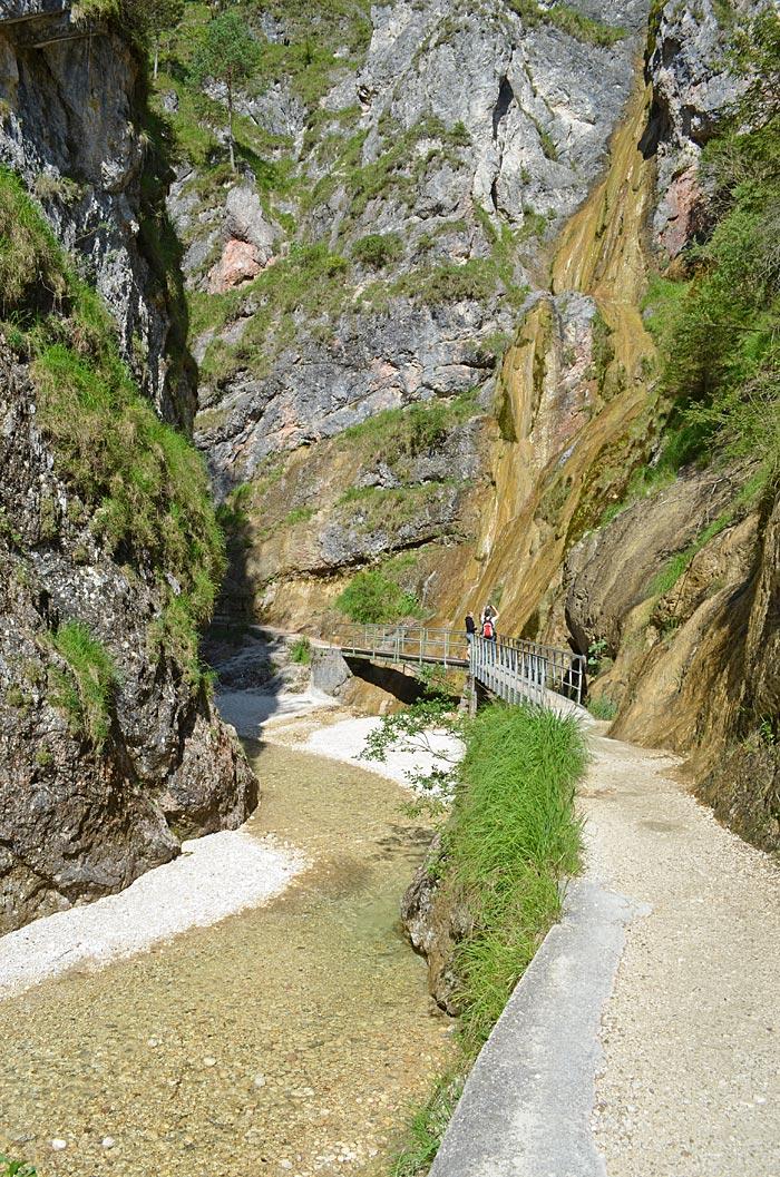 Eingang der Almbachklamm