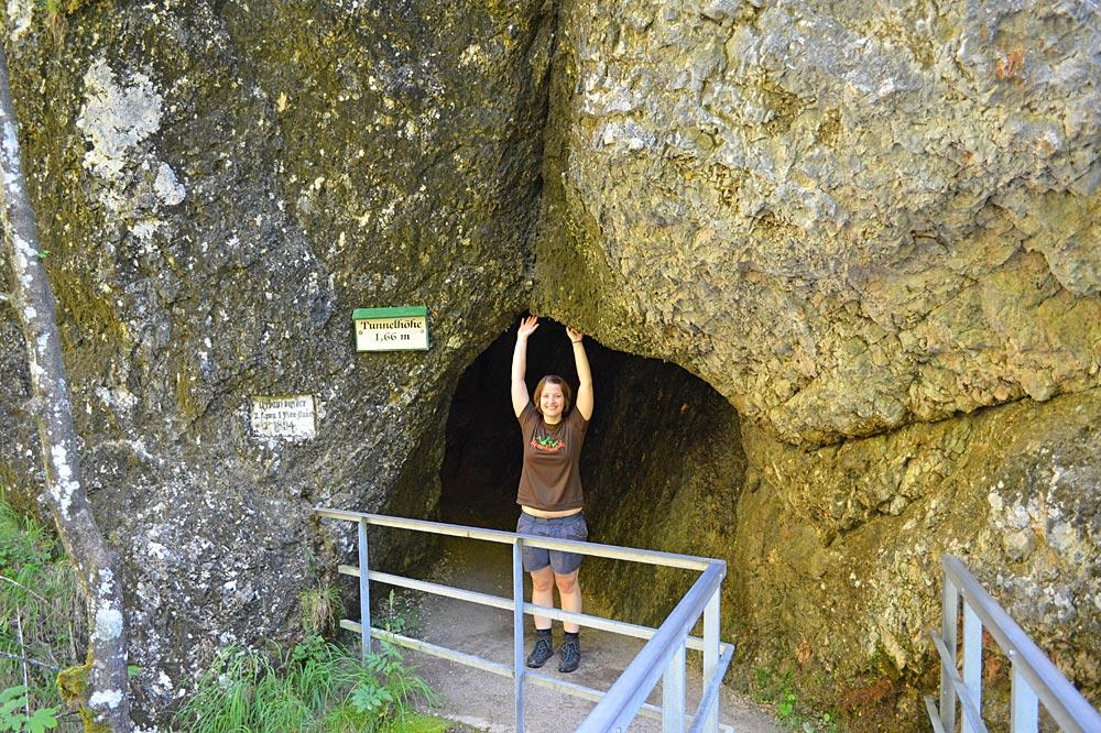 Tunnel in der Almbachklamm