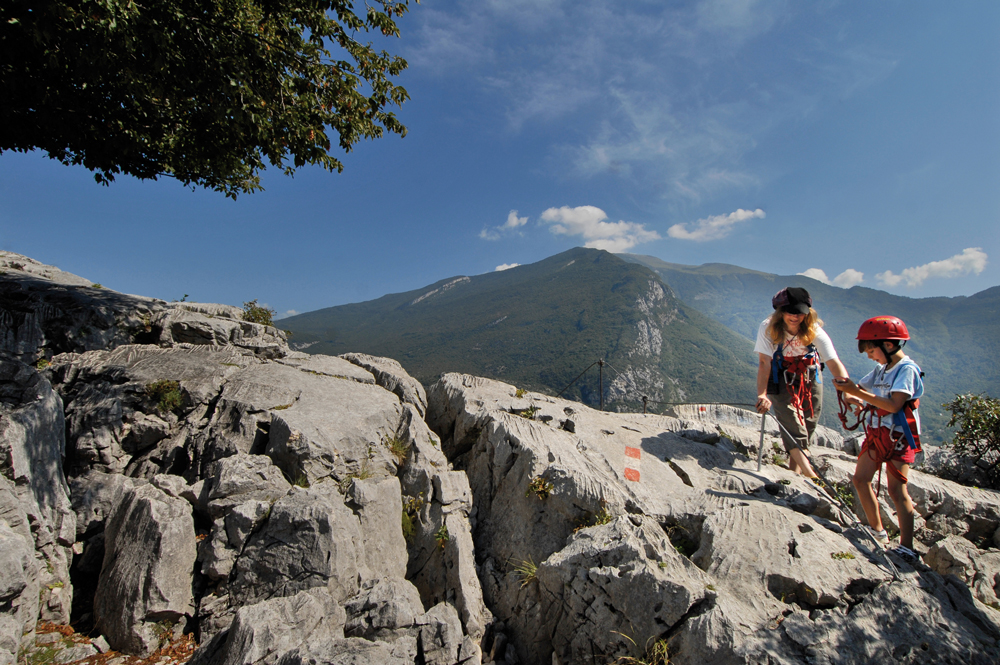 Bergwanderer bei Bergtour