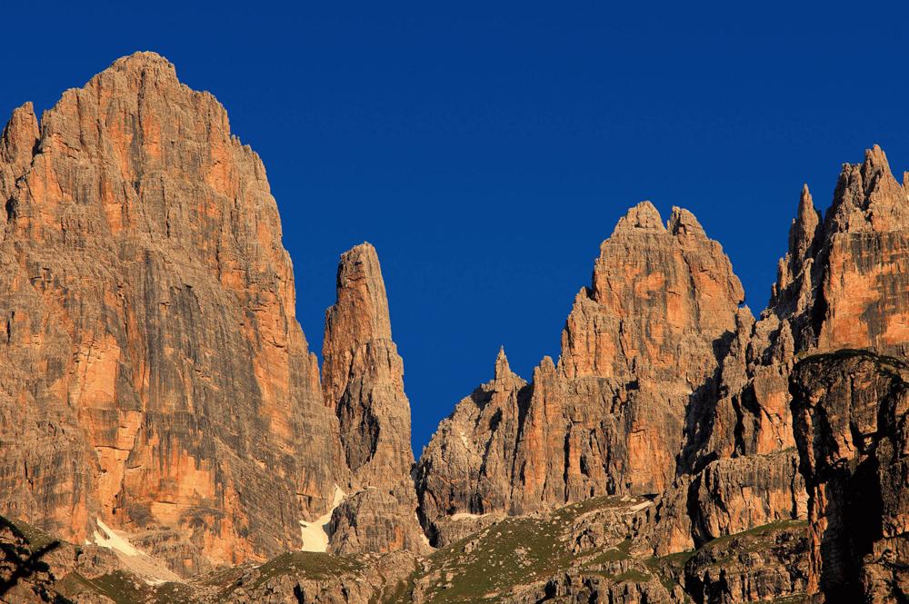 Bergspitzen im Fassatal
