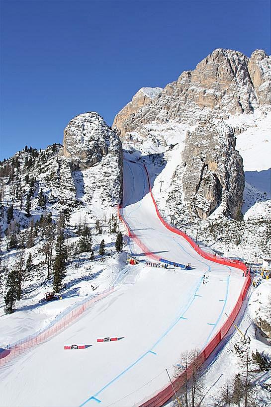 Strecke in Cortina d'Ampezzo