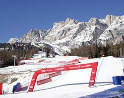 Zieleinlauf in Cortina d'Ampezzo