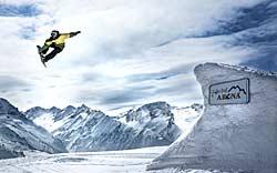 Kicker im Snowpark Gerlos