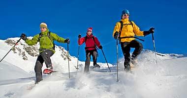 Schneeschuhwanderer in Obertauern