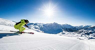 Skifahrer in Obertauern