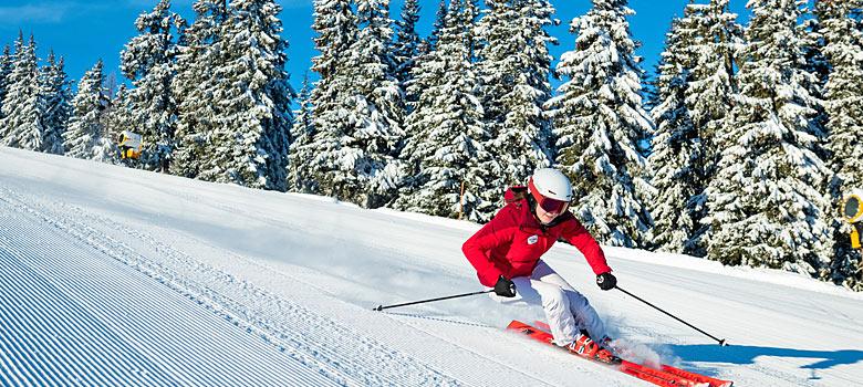 Skifahrer im Salzburger Land