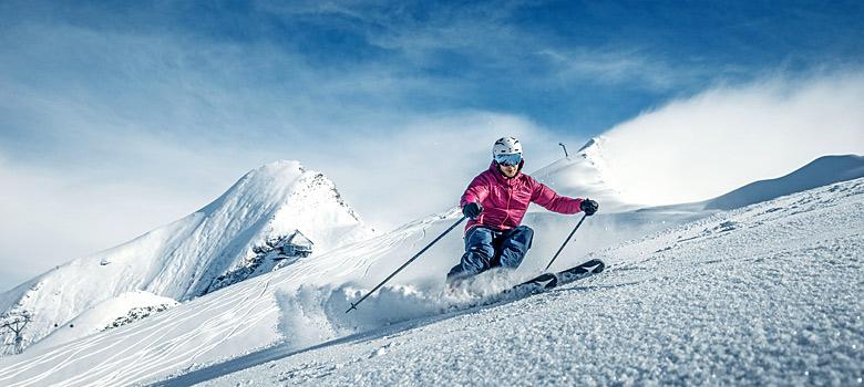 Skifahrer in Zell am See-Kaprun