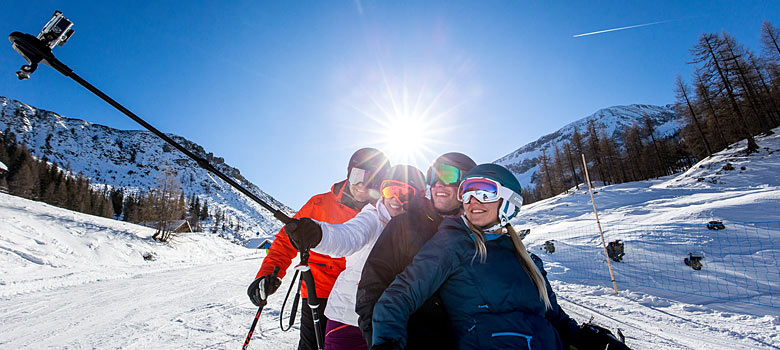 Selfie in der Salzburger Sportwelt