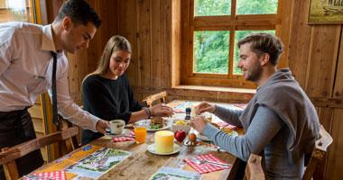 Frühstücken in der SnowWorld Landgraaf