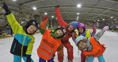Kinderskikurs in der SnowWorld Landgraaf