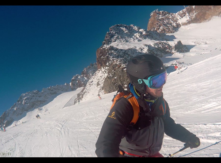 Beim Skifahren