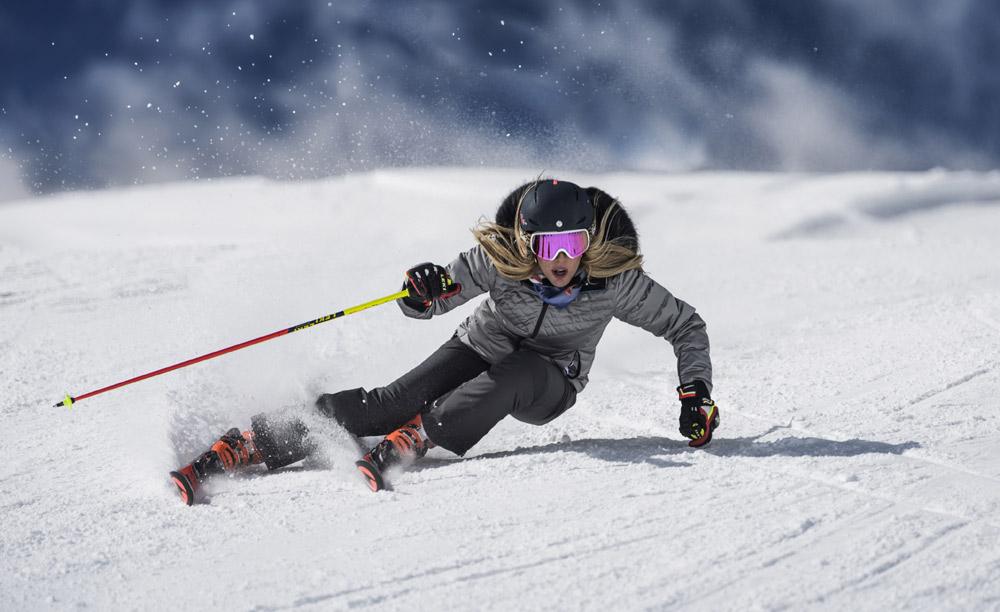 Skifahrerin in Colmar