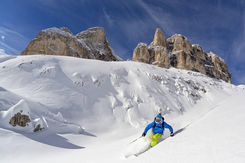 Freeriden in den Dolomiten
