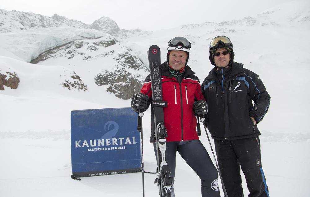 Marc Girardelli am Kaunertaler Gletscher