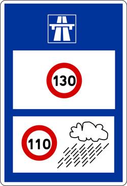 Verkehrsschild in Frankreich