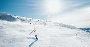 Skifahrer in Banff