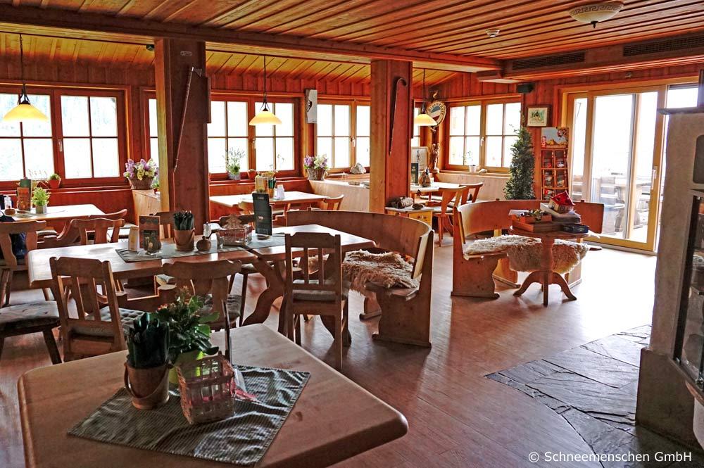 Blick ins Innere der Dolomitenhütte