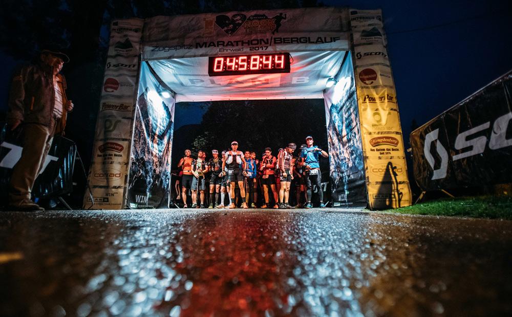 Start beim Marathon auf die Zugspitze