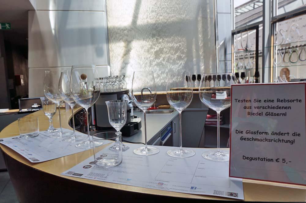 Die verschiedenen Sommeliergläser zur Weinverkostung im Shop
