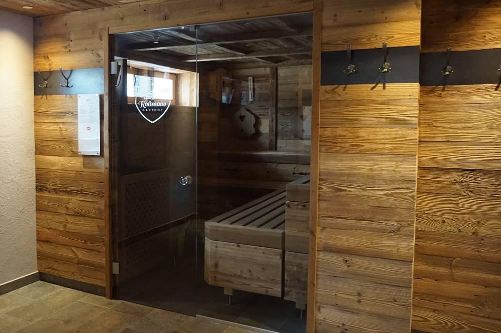 Saunabereich im Erbhof Roßmoos