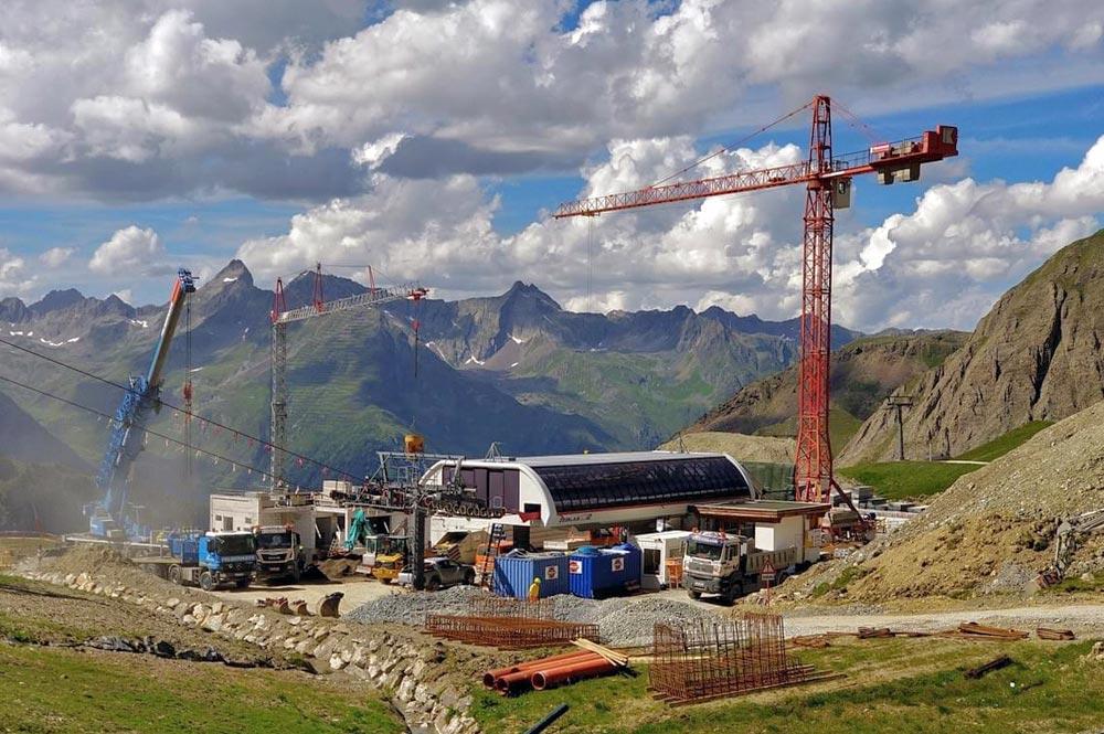 Bauarbeiten an der Talstation der Palinkopfbahn