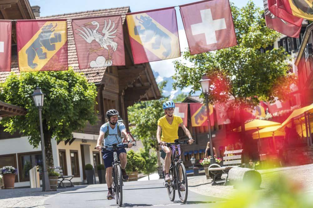 Zwei E-Mountainbiker in Gstaad-Saanenland