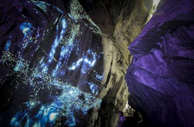Lichtspektakel in der Taminaschlucht bei Bad Ragaz