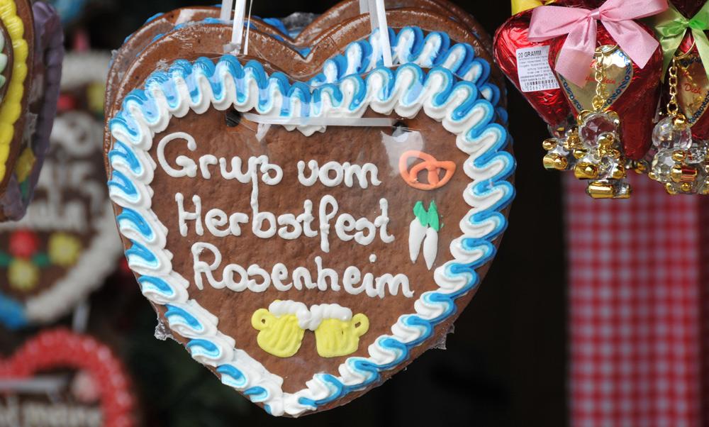 Lebkuchenherz vom Rosenheimer Herbstfest