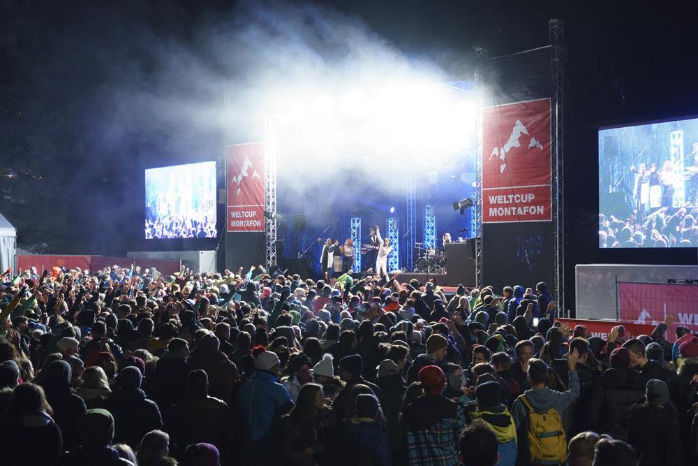 Weltcup-Konzert im Montafon