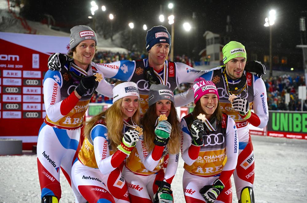 Die Schweiz jubelt über Gold beim Nationen Team Event in Are